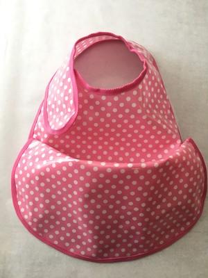 osyokuji apron 【F】【pink / 7mm dots】
