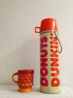 Vintage 1980's Dunkin' Donuts Thermos Bottle