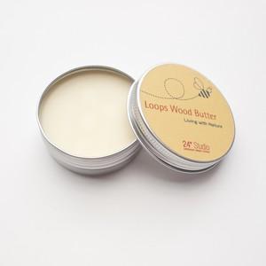 木材コーティング材 オーガニック油脂・蜜蝋配合 - Loops Wood Butter (50g)