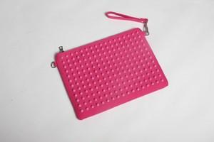 スタッズバッグ クラッチバッグ ONI×ピンク×ピンク×ピンク