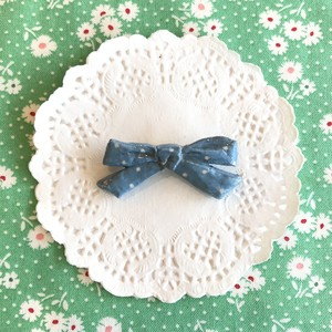 Sweet Drop petit ribbon ブローチ / L.BL