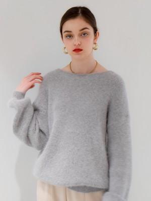 2way angora volume knit(light gray)