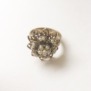 filigree flower ring #12[r-73]