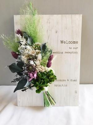 スワッグ ウッドウェルカムボード│結婚祝い インテリア