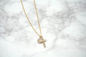 Cross Necklace ▶14kgf