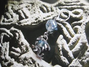 氷蒼竜(アイスドラゴン)の耳飾り★ピアス・イヤリング(片耳用)