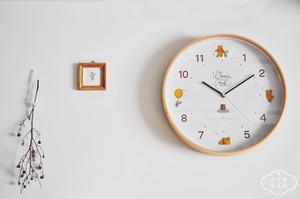DISNEY wood parts clock  pooh.