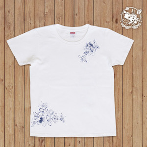 萬屋蛙商店 Tシャツ「花蛙」Lサイズ