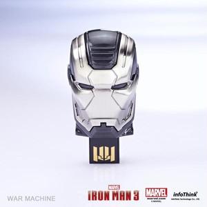 """InfoThink USBメモリ MARVEL アイアンマン3 USBフラッシュドライブ 8GB Mask """"WAR MACHINE"""" ウォーマシン IT-I3USB08WM"""