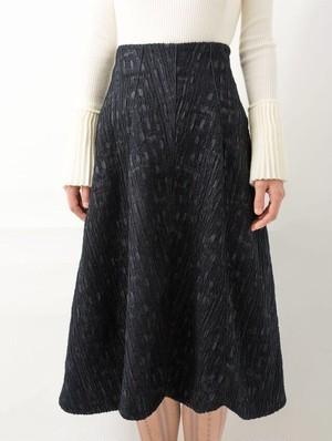 スカラップコードスカート【black】