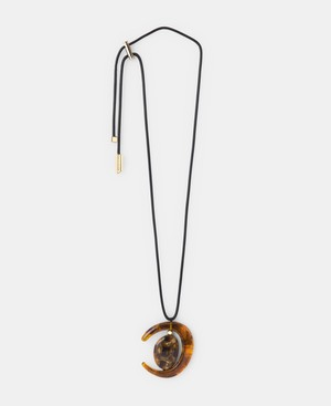 ADJUSTABLE NECKLACE WITH RESIN PENDANT [22643187010102]
