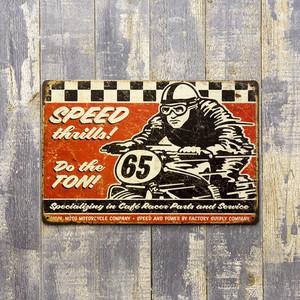 【Antique Metal Plate】アンティーク調のデザイン !SPEED 65