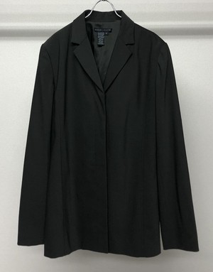 1990s PERRY ELLIS FLY FRONT TAILORED JACKET