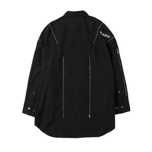ALMOSTBLACK 18SS zip shirt