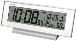 SEIKO電波デジタル目覚まし時計 白 SQ762W