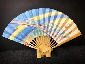 【7寸5分】夏用あおぎ扇子 島田(東海道53次/23)