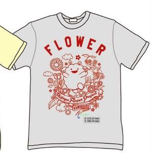 Tシャツ・FLOWER(グレ-)