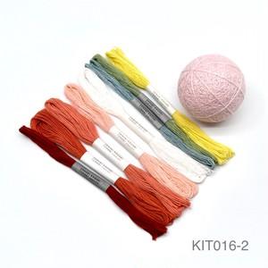 讃岐かがり手まり制作キット「さくらのまり」土台まり・かがり糸セット(テキストなし)_KIT016-2