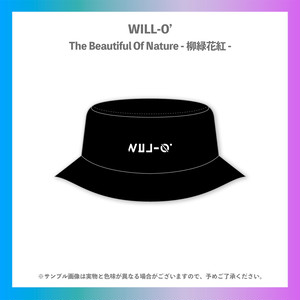 WILL-O'/柳緑花紅ツアー刺繍バケットハット
