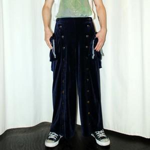 『KANEHIRO』 Velour baggy pants