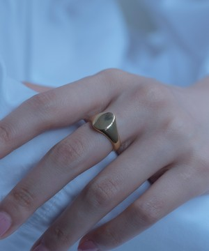 Oval Signet Ring[Silver925]