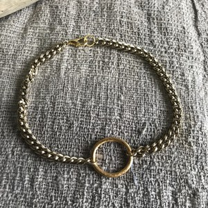 Chain Choker with Circle
