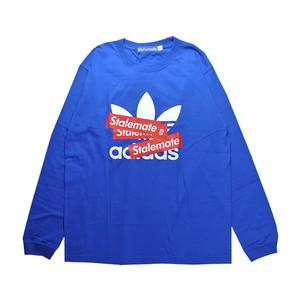 【STALEMATE】AD BOX LOGO L/S TEE(BLUE)