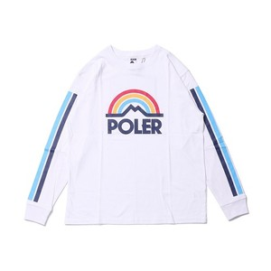 POLeR OUTDOOR STUFF ポーラー MOUNTAIN RAINBOW L/S TEE