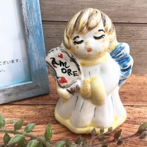 マヨリカ焼き 天使の置物