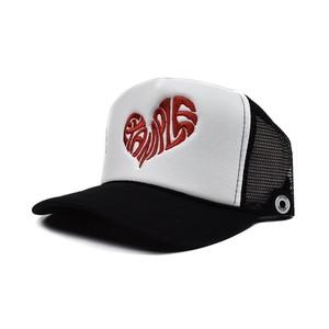 HEART MESH CAP / BLACKxWHITE
