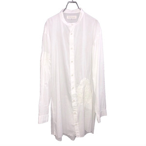 Y'S FOR MEN STAND COLLAR LONG SHIRT EMBROIDERED