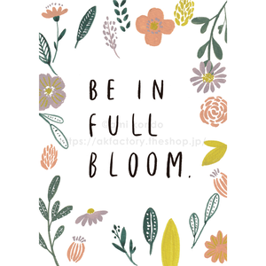【BABY】Art Print -be in full bloom-