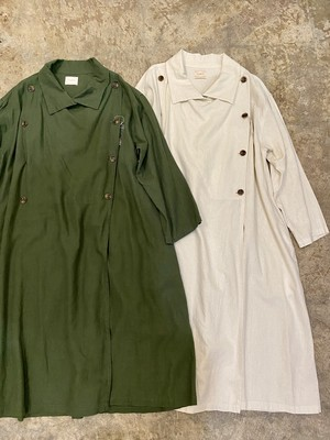 """khakito"" euro vintage military design coat"