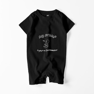 CRYING WAH BABY ROMPERS (BLACK)