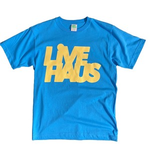 """LIVE HAUS  """"9"""" Colors  Logo T-shirts   SKYBLUE x YELLOW"""