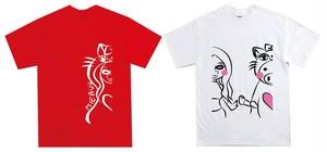 玉山ミイ オリジナルTシャツ(赤・白)