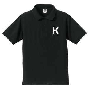 K ポロシャツ(ブラック×ホワイト)
