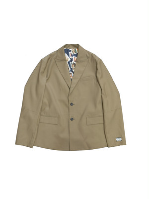 CUT OFF TAILORED JACKET(GREIGE)