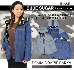 【CUBE SUGAR】デニムボアジップパーカー