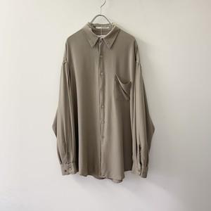 PERRY ELLIS シルクシャツ ブラウン系 size L メンズ 古着
