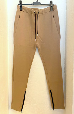 Tapered Jersey Pants Beige