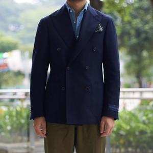 <別注> Ring Jacket x COLONY CLOTHING / ネイビーホップサック ダブルジャケット / 268F