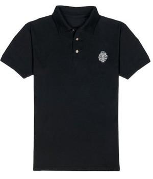 ロゴ刺繍ポロシャツ (black)