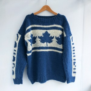 【SALE】Vintage CANADA hand knit