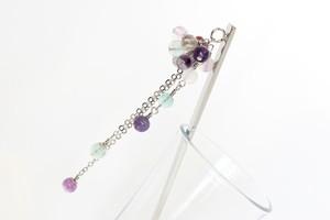 天然石のかんざし*紫陽花