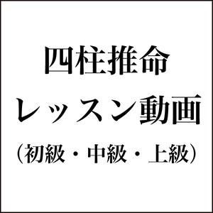 四柱推命(初級・中級・上級セット)【レッスン動画】