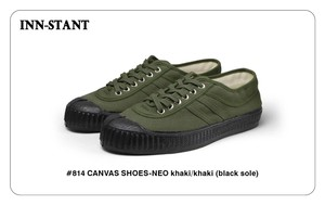 #814 CANVAS SHOES-NEO khaki/khaki(black sole) INN-STANT インスタント 【税込・送料無料】