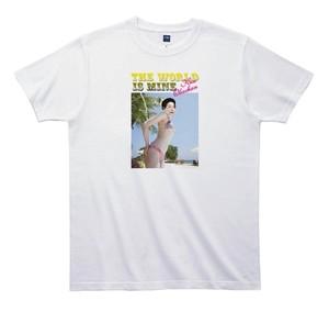 《浅見千代子Tシャツ 》TA002/ THE WORLD IS MINE