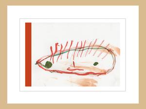プリント額絵:しゅんすけ作「オレンジしゅんぼう」