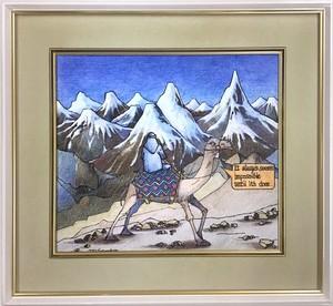Jean-Pierre Anpontan 原画「登ってみようか」オリジナルアート作品